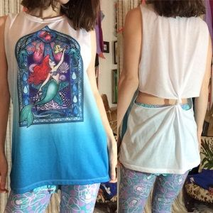 The Little Mermaid Ariel Cut Out Beach Tank